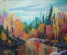 """""""Norther Ontario""""  by Rainer Pitsch 24x30"""" Acrylic on Canvas"""