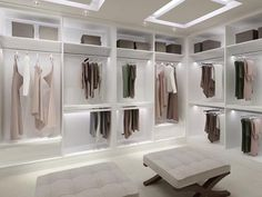 The best of luxury closet design in a selection curated by Boca do Lobo to inspire interior designers looking to finish their projects. Discover unique walk-in closet setups by the best furniture makers out there. Closet Walk-in, Dressing Room Closet, Dressing Room Design, Closet Ideas, White Closet, Dressing Rooms, Dressing Area, White Wardrobe, Wardrobe Ideas