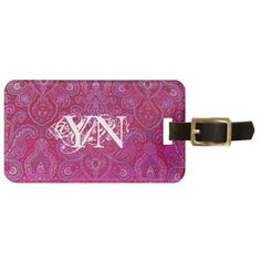 Pretty Paisley monogram Tags For Bags from Jan4insight* - SOLD a luggage tag 3.27.13