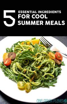 5 Essential Ingredients for Cool Summer Meals http://onegr.pl/1npnGHZ #summer #vegan #summer
