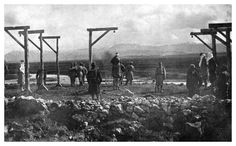 WWI: Austrian soldiers hanging villagers in Serbia