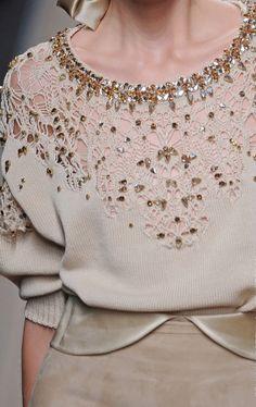 Decorialab - A Retrò Vibe - Ermanno Scervino Knitwear Fashion, Knit Fashion, Girl Fashion, Womens Fashion, Fairytale Fashion, Fashion Details, Fashion Design, Lesage, Facon