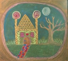 Letter H for House- Hansel and Gretel drawn by Kim Stuart, Roseway Waldorf school, KZN , South Africa