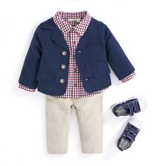 JoJo Maman Bebe Perfect in Plaid boys outfit #childrenswear #boys #outfit