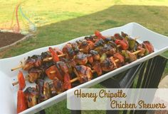 Simple Fare, Fairly Simple: Honey Chipotle Chicken Skewers