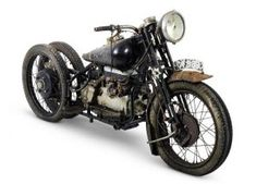 """A Brough Superior, one of """"The Broughs of Bodmin Moor"""" recently uncovered, has set a world record price both for its model and for any British motorcycle. The 1938 Brough . Vintage Bikes, Vintage Motorcycles, Custom Motorcycles, Custom Bikes, Cars And Motorcycles, Vintage Cars, Custom Harleys, Custom Vans, Bike Prices"""