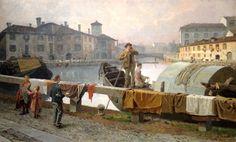 Arturo Ferrari, Milano, il Naviglio di Viarenna, 1894