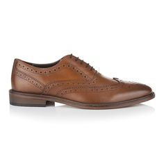This classically stylish brogue is definitely the gent of the collection. Elegantly cut, with a sweeping wing-tipped toe cap and traditional zig-zag edging with perforated brogue detail throughout. Jude is crafted from a high quality antique tan leather, which has been hand finished with a burnished effect, giving the shoe an almost two tone appearance. The heavy stitching around the leather sole gives the shoe a high quality air, with a rubber piece on the heel for increased durability. The…