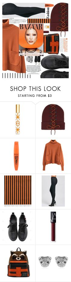"""Sweater and lace up cap,look at all of that!"" by jelena-bozovic-1 ❤ liked on Polyvore featuring Tory Burch, Puma, Rimmel, NARS Cosmetics, Loungefly and Forum"