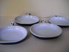 Vintage Bennington Potters Bennington Vermont Skillet Style Plates Black Matte Finish by Modernaire on Etsy