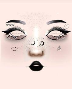 Asian Eye Makeup, Edgy Makeup, Glossy Makeup, Eye Makeup Art, Dark Makeup, Crazy Makeup, Cute Makeup, Creative Eye Makeup, Colorful Eye Makeup