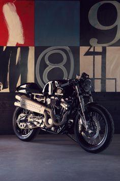 cafe racer by Deus Ex Machina Vintage Bikes, Vintage Motorcycles, Custom Motorcycles, Custom Bikes, Honda Motorcycles, Cafe Bike, Cafe Racer Motorcycle, Motorcycle Design, Classic Motorcycle