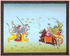 Goddess Durga Slaying the Demon