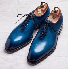 Handmade leather shoes for sale Mens Shoes Boots, Men's Shoes, Shoe Boots, Men Dress Shoes, Formal Shoes, Casual Shoes, Bleu Indigo, Christian Louboutin, Neoprene