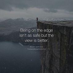 Loving this quote from @thinkgrowprosper ! Go follow  #takerisks #hustle…