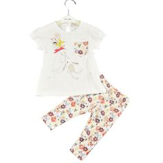 Infant Baby Toddler Boys Girls Pajamas Bunny Sleepwear T-shirt Tops floral leggings Suit. Style: FashionSleeve Style: RegularCollar: O-NeckMaterial: CottonPattern Type: SolidSleeve Length: FullGender: GirlsOuterwear Type: VestClosure Type: PulloverModel Number: xl25Item Type: SetsDepartment Name: ChildrenFit: Fits smaller than usual. Please check this store's sizing info