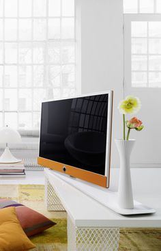 Loewe Connect ID TV with Rosenthal Table Stand Tableau - great new taking on staging and integrating your tv