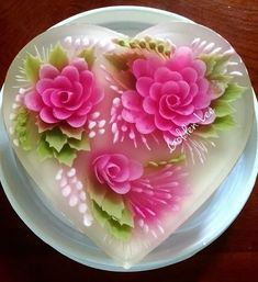 Unique Cakes, Creative Cakes, Creative Food, Gelatin Bubbles, 3d Jelly Cake, Jelly Desserts, Jelly Flower, Colorful Desserts, Jello Recipes