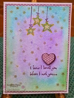 Mountain Plains Crafters: Twinkling Love baby shower card....Visit our crafty blog and Facebook!