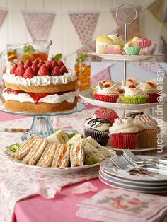 afternoon tea | traditional English summer tea of cakes and sandwiches afternoon tea ...