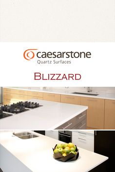 Lace By Caesarstone Is Perfect For A Kitchen Quartz Countertop - Caesarstone blizzard countertop
