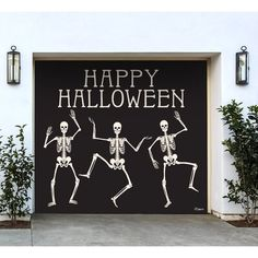 My Door Decor 7 ft. x 8 ft. Happy Halloween Skeletons Halloween Garage Door Decor Mural for Single Car - The Home Depot Home Depot Halloween, Happy Halloween, Halloween Signs, Outdoor Halloween, Halloween Party, Halloween 2020, Halloween House, Halloween Halloween, Halloween Balloons