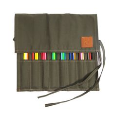 The Berkshire Pencil and Brush Roll - Forest
