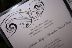 Wedding Invitation Too Chic Classic Scroll by toochiclittleshab, $4.50