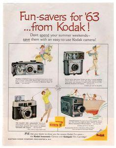 Vintage 1960s Kodak Camera Magazine Print Ad from 1963 Photography Equipment Advertising