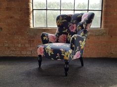 Colefax chair from lounje, covered in Swaffer Pemberley