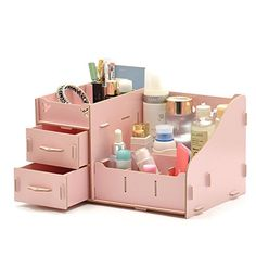 We have collected cheap and fantastic DIY Desk Organizer Ideas. Storage Containers With Drawers, Storage Container Homes, Plastic Container Storage, Decorative Storage Bins, Wooden Storage Boxes, Desk Organization Diy, Diy Desk, Office Storage, Office Desk