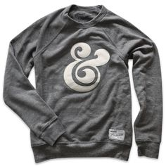 Premium Ampersand Crewneck. Super comfy triblend sweatshirt with custom sewn applique and Ugmonk tag. $62