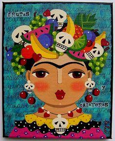 Frida & Calavera Dia de los Muertos skull