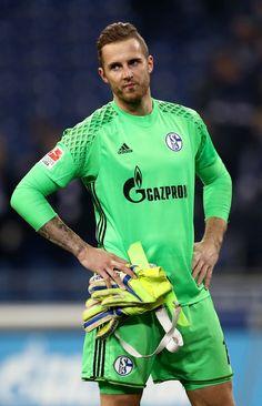 Ralf Faehrmann, goalkeeper of Schalke looks dejected after the Bundesliga match between FC Schalke 04 and Eintracht Frankfurt at Veltins-Arena on January 27, 2017 in Gelsenkirchen, Germany.