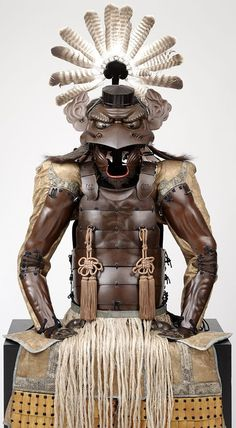 This is impressive   Armor with the features of a tengu (tengu tōsei gusoku), Late Edo period, 1854, Japan.   Iron, lacquer, plant fibers, brocade, feathers, fur, © The Ann & Gabriel Barbier-Mueller Museum, Dallas