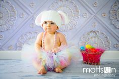 Easter Bunny Tutu Crochet Hat Set Outfit  Newborn Infant Baby Toddler  Girl Pastel Photography Prop. $48.50, via Etsy.