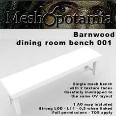 Meshopotamia Barnwood Bench 001 w AO texture
