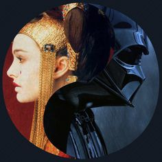 For Every Yin, There Is A Yang Darth Vader and Queen Amidala Starwars