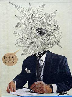 "Saatchi Art Artist LOUI JOVER; Collage, ""mr matrix"" #art"