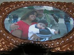 Photo chocolate art when my son was united with his baby girl for the first time. We took the photo, put it into an edible chocolate frame and shipped it to the family.