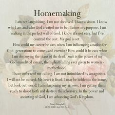 {Homemaking} ~ Nancy Campbell  ABOVE RUBIES April 2012, No.84