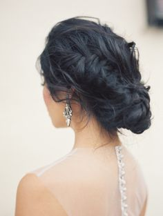 Secret Garden Wedding Inspiration by Carolly Fine Art Photography (Model: Michelle Huang) Braided Hairstyles For Wedding, Pretty Hairstyles, Easy Hairstyles, Braided Updo, Wedding Hair And Makeup, Wedding Updo, Hair Makeup, Bridal Makeup, Garden Wedding Inspiration