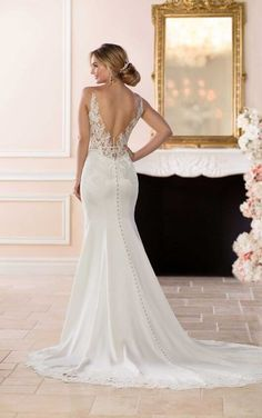 6648 Simple and Sleek Wedding Gown by Stella York