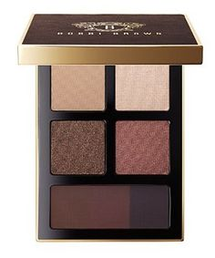 Bobbi Brown Holiday 2016 Dark Chocolate Eyeshadow Palette (Wine). Create a decadent eye look with these rich, full-bodied shades ranging from a matte base to three shimmer-infused shadows plus three deep shades of Intense Pigment Liner. This set features Frappe Eyeshadow (a medium ash beige), Moon Glow Shimmer Wash Eyeshadow (a frosty beige), Black Cocoa Metallic Eyeshadow (a deep black golden bronze), Pinot Noir Shimmer Wash Eyeshadow (a shimmering brown shade with a hint of red), Molten...