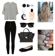 """""""Untitled #15"""" by salma-wesam on Polyvore featuring River Island, PYRUS, Verali, Forever 21, Jewel Exclusive, BERRICLE, Ray-Ban, Giorgio Armani, women's clothing and women"""