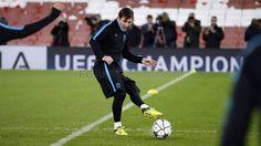 Entrenamiento en el Arsenal Stadium   FC Barcelona