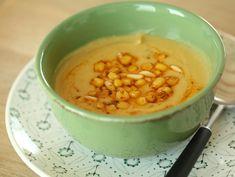 Lentil soup with lemon and corn