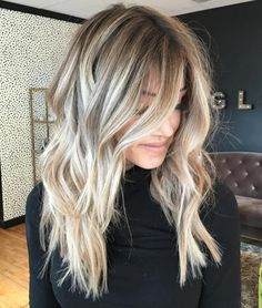 Long Tousled Bronde Hairstyle