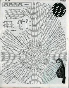Crochetemoda: Bolero Circular de Crochet