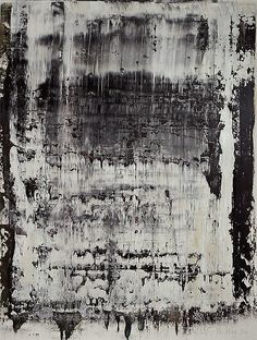 Gerhard Richter from Marian Goodman Gallery New European Painting, Abstract Expressionism, Abstract Art, Abstract Paintings, Gerhard Richter Painting, Jackson Pollock, Black And White Painting, Black White, Art Moderne